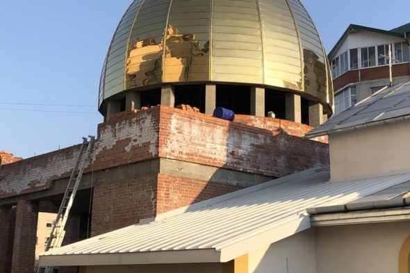 Монтаж куполу даху фальцуванням Львів